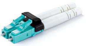Duplex Mini LC connector Multi Mode,1.6mm Boot, Aqua Color, 10 Gig, Zirconia Ferrule
