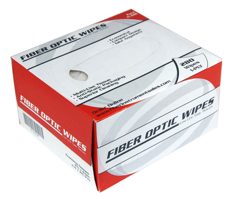 Low Lint Fiber Optic Tissues (280 wipes per box)