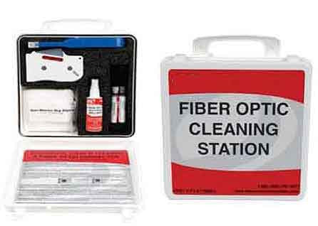 Fiber Optic Cleaning Station,Standard Kit