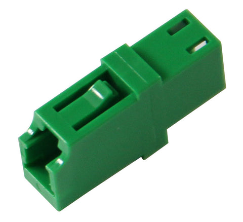 LC/APC Single Mode Mating Sleeve, Zirconia Sleeve, Snap Mount, Green Color
