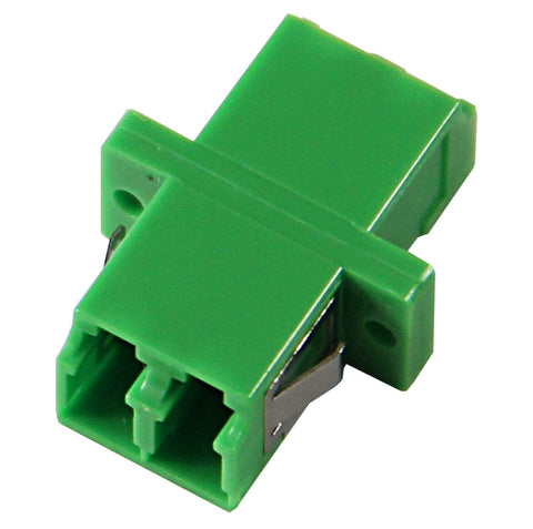 LC/APC Duplex LC Mating Sleeve, Zirconia Sleeve, Green Color, SC Footprint, Snap & Screw Mount