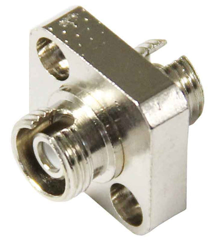 FC/APC Single Mode Mating Sleeve, Zirconia Sleeve, Square Flanged Mount