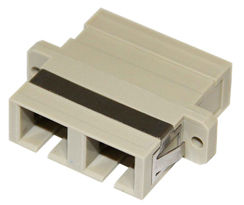 Duplex Multimode SC Mating Sleeve, Polymer Housing, Beige Color