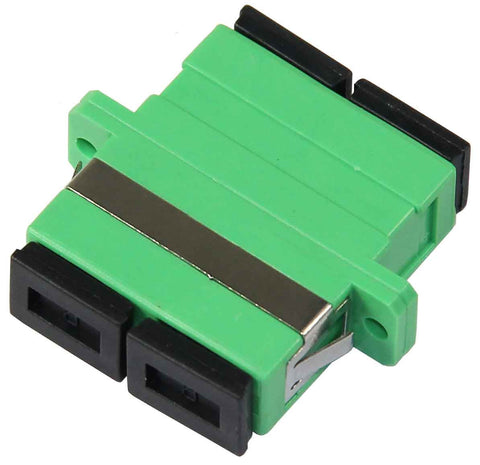Duplex SC/APC Single Mode Mating Sleeve, Polymer Housing, Zirconia Sleeve, Green Color