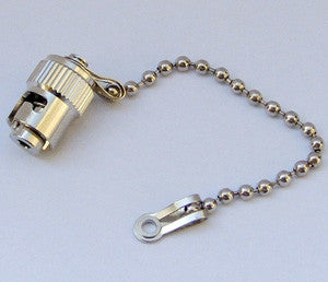 Metal Cap & Chain for ST Mating Sleeves/Adapters