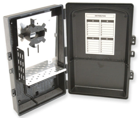 24 Port (ST MM Loaded) Wall Mount Patch/Splice NEMA Distribution Box (Holds 2 Splice Tray 1120-SSTA)