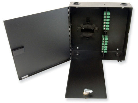 Economy 24 Port Patch/Splice Wall Mount Housing (Holds 4 Adapter Plates, 2 Splice Tray 1120-SSTA