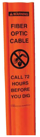 "Flexible Line Marker Post, 3"" x 6', orange"
