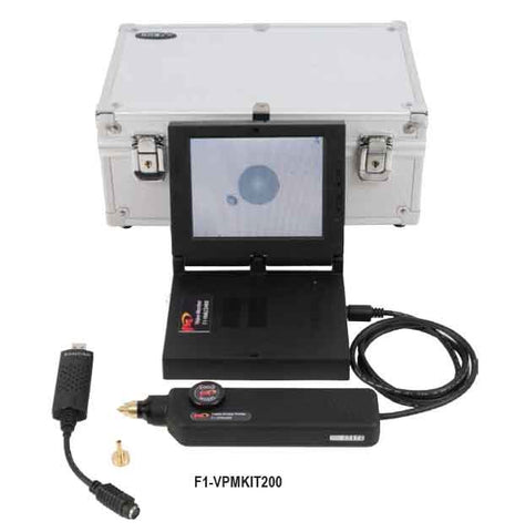 Hand Held Video Monitor & 200X Fiber Inspection Microscope Probe