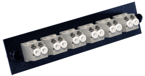 6 Pack Duplex LC (12 port) Adapter Panel (Multimode Loaded Beige Adapters)