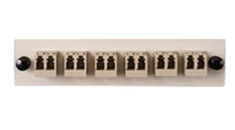 LC Duplex 6 Pack (Multimode) 12 Fibers, Beige Color