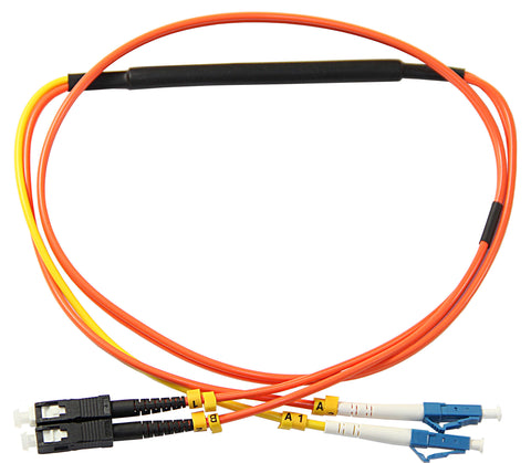 LC-SC 62.5/125µm mode conditioning patch cord, LC single mode, 1 meter length
