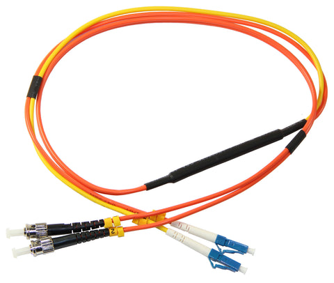 LC-ST 62.5/125µm mode conditioning patch cord, LC single mode, 1 meter length