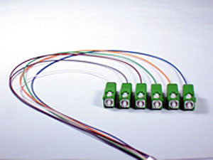 9/125/900µm Single Mode SC/APC Color Coded Pigtail, 3 Meters (6 pcs/pack)