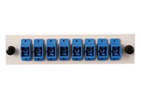 SC 8 Pack (Singlemode - Loaded) Blue Adapters, Beige Color