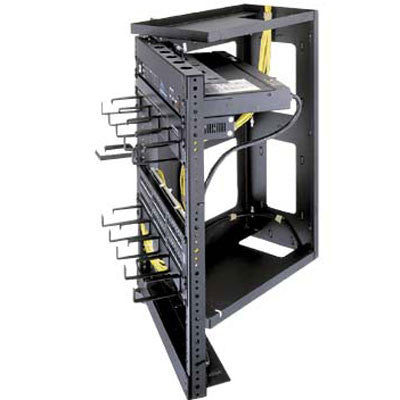 "Swing Gate Wall Mount Racks - 24.5"" Overall Height, 21"" (12 Space) Racking Height, 12"" Depth"