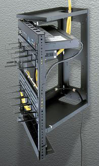 "Swing Gate Wall Mount Racks  38.5"" Overall Height, 35"" (20 Space) Racking Height, 12"" Depth"