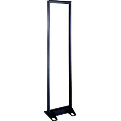 "19"" Standard Series Relay Racks - 84"" Overall Height, 45 Space, Black Powder Coat Finish"