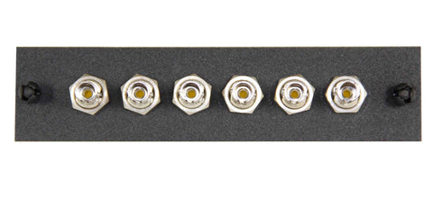 6 Pack ST Adapter Panel (Single Mode - Loaded)