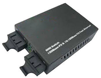 3-Port Mini Switch with (2) 100Base-FX SM/SC and One 10/100Base-T/TX Port