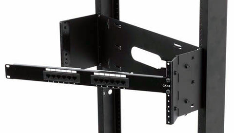 "3-1/2"" (2 space) Wall Mount Hinged Rack"