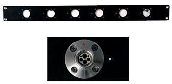 "19"" SMPTE Rack Mount Panel - FXW Receptacle,  Unloaded (for LEMO's FMW)"
