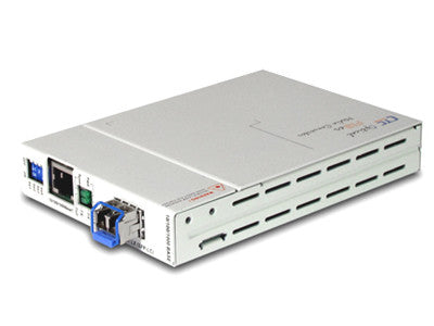 FMC-1000MS-SM10 Gigabit Ethernet 10/100/1000BaseTx to 1000Base-LX fiber media converter, WebSmart ma
