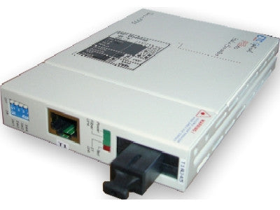 T1 RJ45 100ohm to singlemode single strand 1310/1550nm fiber optic media converter (T1 modem), 20Km