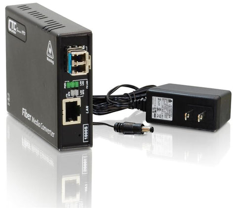 FMC-1000S-MM  Gigabit Ethernet 1000Base-SX multimode fiber media converter, LC, 550m