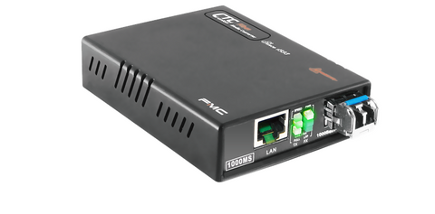 Gigabit Ethernet 10/100/1000BaseTx to 1000Base-LHX fiber media converter, 40Km, WebSmart managed