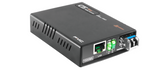 Gigabit Ethernet 10/100/1000BaseTx to 1000Base-BX single strand BiDi WDM 10Km converter type B, WebS