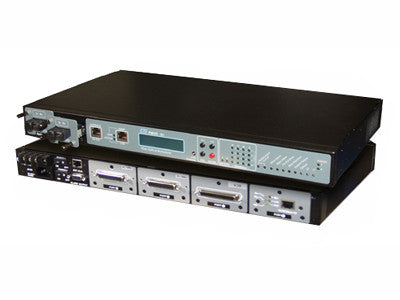PDH modular fiber optic multiplexer chassis, up to 16 T1 / E1, POTS and true Fast Ethernet