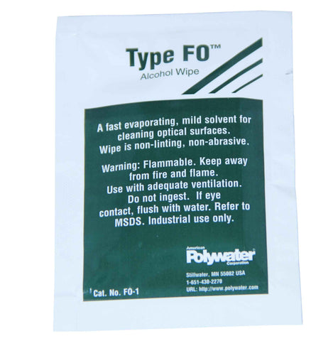 Polywater Type FO Alcohol Prep Wipe (Box of 50 Wipes)
