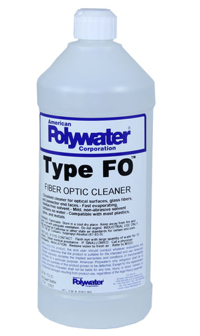 Polywater Type FO Alcohol Fiber Cleaner 32-oz Bottle
