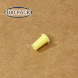 Plastic Universal Dust Cap for 1.25mm Ferrules. Fits LC, MU. 100 pcs/pack, Yellow Color