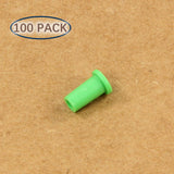 Plastic Universal Dust Cap for 1.25mm Ferrules. Fits LC, MU. 100 pcs/pack, Green Color