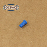 Plastic Universal Dust Cap for 1.25mm Ferrules. Fits LC, MU. 100 pcs/pack, Blue Color