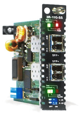 10G rate SFP+ to SFP+ slot media converter (transponder) w/ web based management support