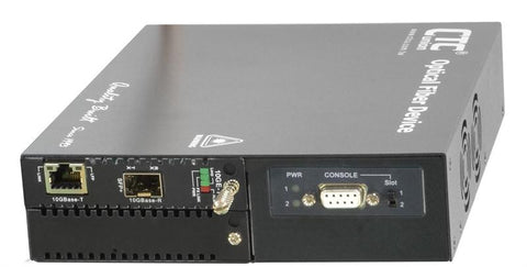 FRM220-10GE-TS 10G Ethernet RJ45 copper to SFP+ slot media converter managed