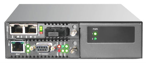 FRM220-CH02NMC-DC  - two slot fiber chassis with embedded neg. DC power 18-72V input