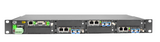 "8 slot fiber chassis with dual power and network management options, rack 19"", 1U"