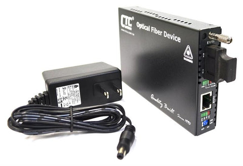 FRM220-E1-T1-SC002 E1 / T1 to multimode fiber 2Km, 1310nm media converter, SC, managed