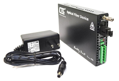 FRM220-SERIAL-SC02A RS-232, RS-485, RS-422 over single strand fiber BiDi media converter, 20Km, A type