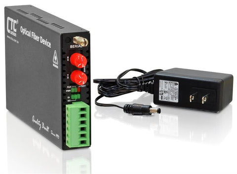 FRM220-SERIAL-ST002 RS-232, RS-485, RS-422 over multimode fiber media converter, 2Km, ST connector