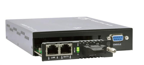 FRM220-FOM01-AC one E1/ T1 with full Fast Ethernet, SFP slot uplink Fiber Optic Multiplexer - AC power