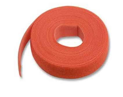 Hook & Loop Cable Tie, 15' roll, Standard cross section, Red