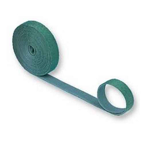 Hook & Loop Cable Tie, 15' roll, Standard cross section, Green
