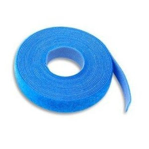 Hook & Loop Cable Tie, 15' roll, Standard cross section, Blue