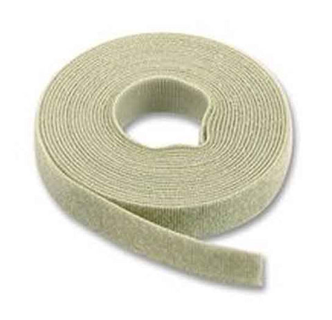 Hook & Loop Cable Tie, 15' roll, Standard cross section, Gray