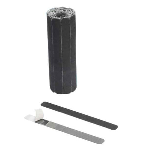 Hook & Loop Cable Ties 7in x .75in, Black, Roll of 25PCS